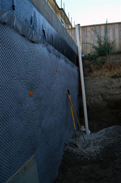 basement wall drainage mat point grey concrete 171 home building in vancouver