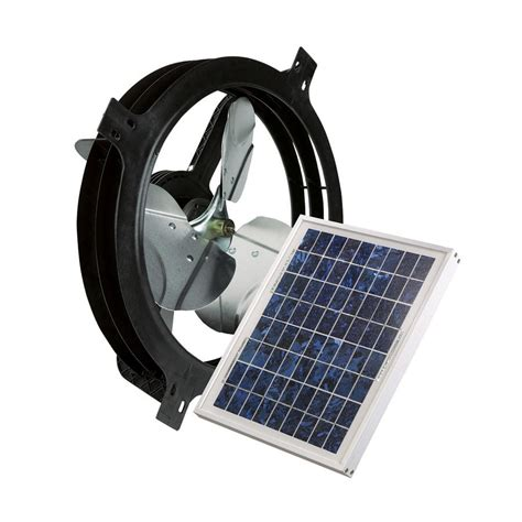 solar gable attic fan air vent 53560 solar power gable attic ventilator fan 800