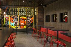 72 Best Restaurant Design: Wood Flooring Design on Walls