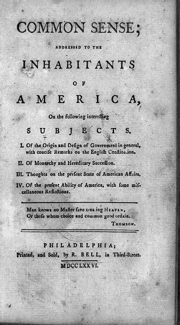 Common Sense | Encyclopedia of Greater Philadelphia