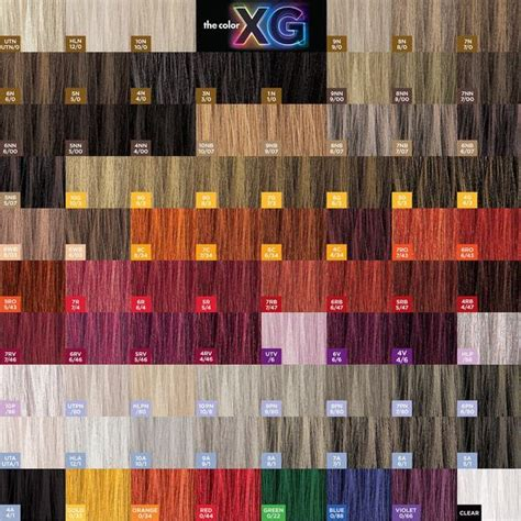 paul mitchell hair color chart paul mitchell xg the color shades patchwork paul