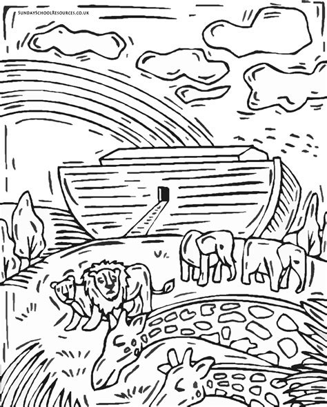 Noah S Ark Coloring Page Printable