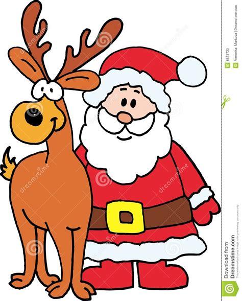 imagenes de santa claus con sus renos para colorear pap 225 noel con el reno foto de archivo imagen 6623730