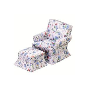 floral chair and ottoman pink blue floral chair and ottoman