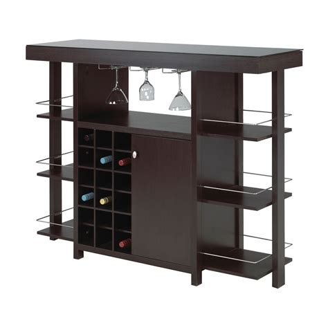 Brassex 12532 Bar With Smoked Glass Top Lowe S Canada Bars Furniture Modern