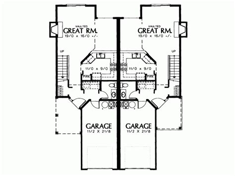 Two Storey Floor Plansm Duplex Joy Studio Design Gallery Two Storey Duplex House Plans