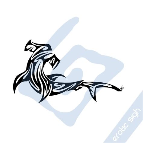 tribal hammerhead tattoo thresher shark tribal hammer shark on