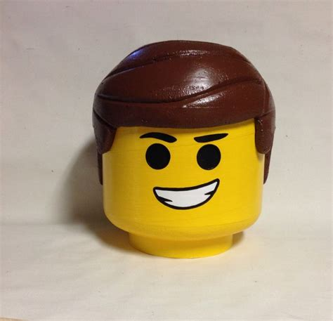 lego heads with hair custom made to order lego movie inspired emmet costume head