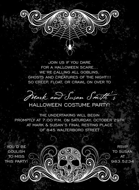 free printable halloween invitations black white 25 best ideas about halloween party invitations on