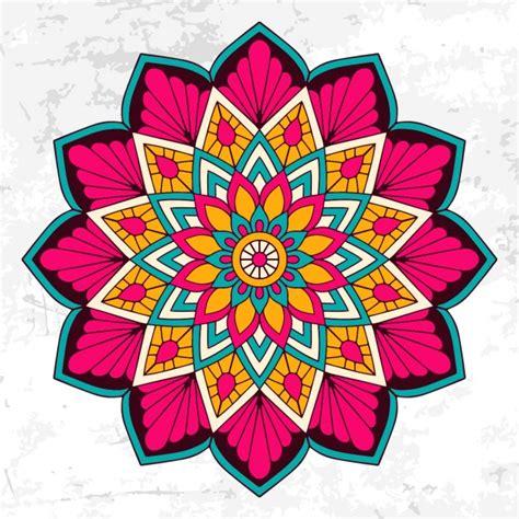 colorful mandala colorful mandala with floral ornament vector free