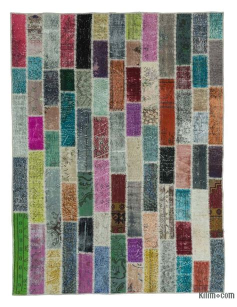 k0020270 multicolor dyed turkish patchwork rug