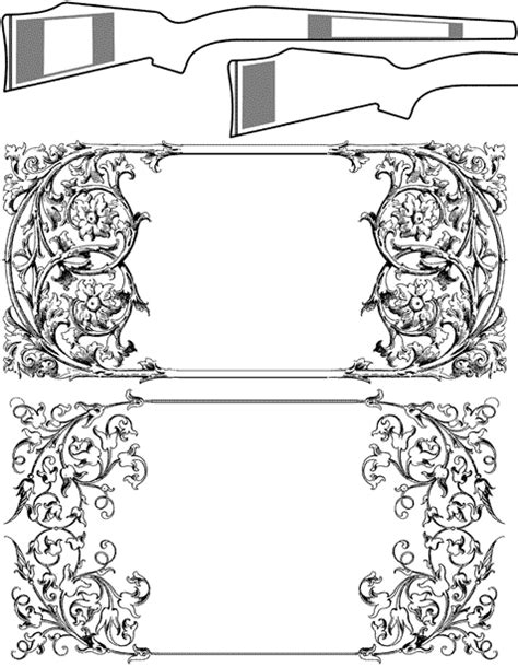gunstock carving printable patterns patterns kid