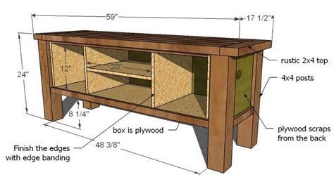 tryde media console diy furniture plans pallet