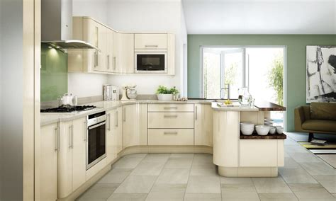 Avant Kitchen Units by Ivory Smooth Gloss Finish Cheshire Kitchens Compare