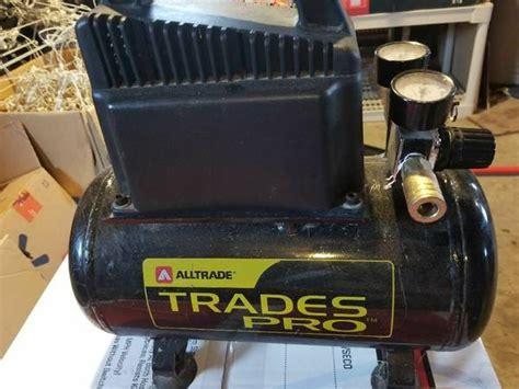 alltrade trades pro air compressor  gallon  psi works
