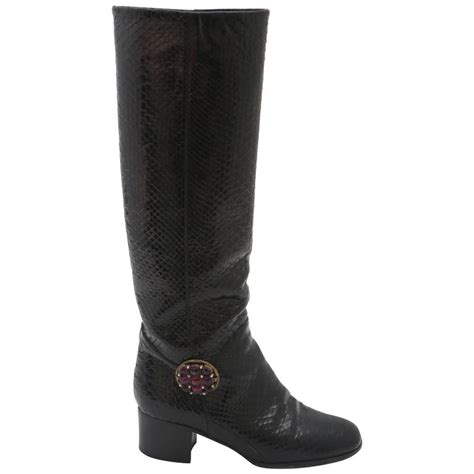 snake boots for sale chanel snake boots for sale at 1stdibs