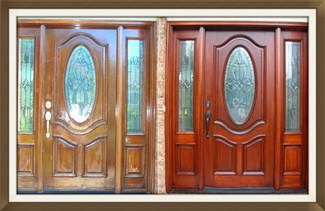 Refinish Front Door Refinish Door How To Refinish A 100 Year Door By Sanding And Restaining On One Side