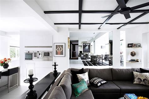 house tours handsome black interiors    homes