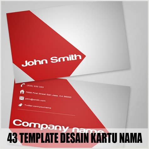 template kartu nama eps 43 template desain kartu nama bisnis gratis part 2 album