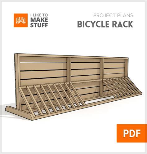 Bike Rack Plans by Bike Rack Digital Plan I Like To Make Stuff