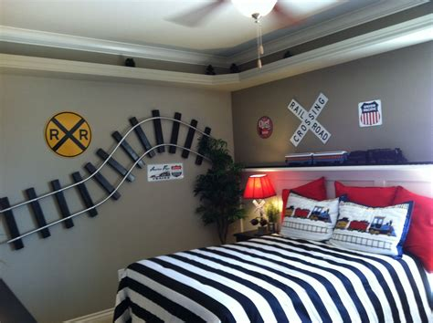 hometalk train themed boy s room diy train bedroom for kids train room shelves and room