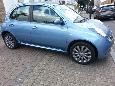 blue nissan micra 2009 58 reg nissan micra tekna 1 2 manual metallic blue