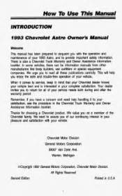 service manual free 1993 chevrolet astro service manual service manual 1998 gmc safari auto 1993 chevrolet astro problems online manuals and repair information