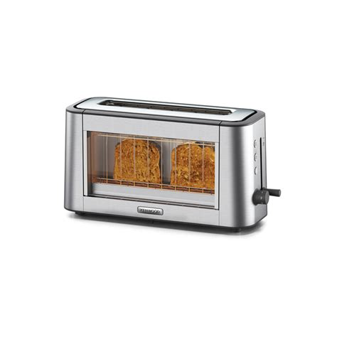 Glass Toaster Kenwood Tog800cl Personal Clear Glass One Slot Toaster