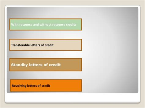 Letter Of Credit With Recourse Documentary Credit Or Letter Of Credit