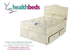compare beds comfort health beds pearl 1500 comfort kingsize divan bed review