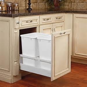 pull out trash can 15 inch cabinet buy rev a shelf 174 15 inch tandem 35 quart pull out
