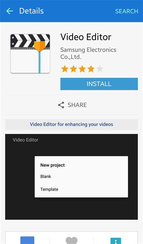 membuat video klip dengan android samsung video editor tersembunyi di android dan cara