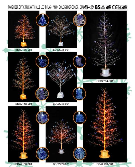 premier gold sequin fibre optic tree china twig fiber optic tree with blue led and flash pin in gold siver color china