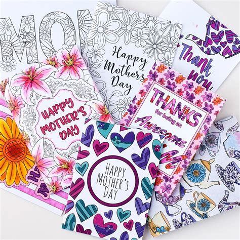 Clark Mothers Day Card Templates by Mothers Day Cards To Color And Print Geccetackletartsco