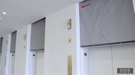 elevator smoke curtain smoke door door systems elevator smoke containment system