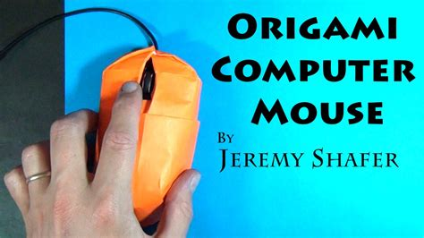 how to make a origami computer origami computer mouse