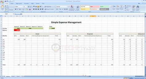 sle excel sheet for home expenses simple monthly
