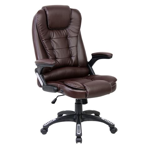 high back reclining office chair rio luxury reclining executive office desk chair faux