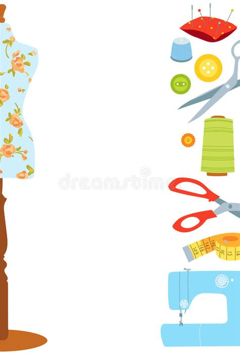 sewing borders design elements vector sewing vector background border stock vector image