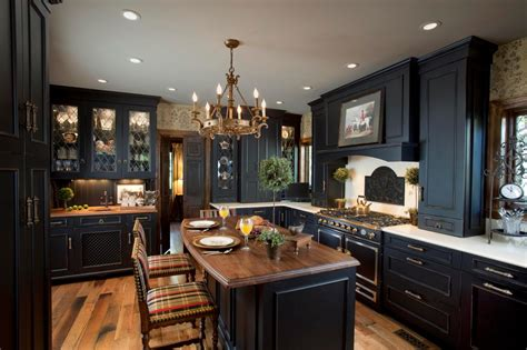 black kitchens cabinets photos hgtv