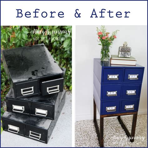 turning a card catalog into a side table risenmay