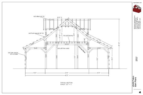 barn design plans 42x50 teton barn plans