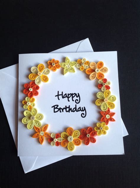 paper quilling flower greeting card cards