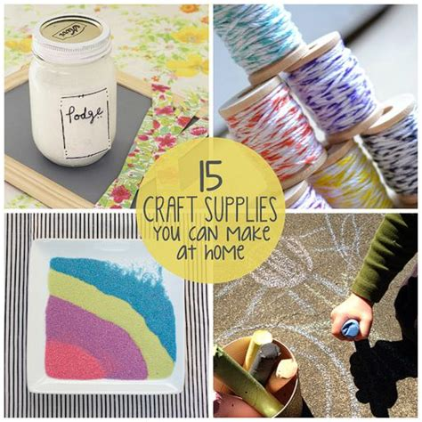 15 craft supplies you can make at home via lilblueboo