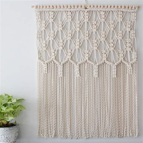 Macrame Rope Patterns - define macrame wall hanging the name says it all