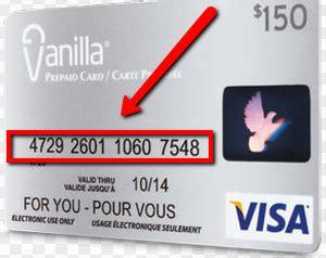 visa gift card numbers