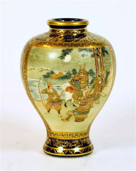 Kinkozan Vase by Kinkozan Satsuma Ware Vase Antiques Decorative Arts
