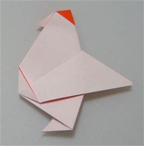 Origami Chicken Easy - traditional origami chicken