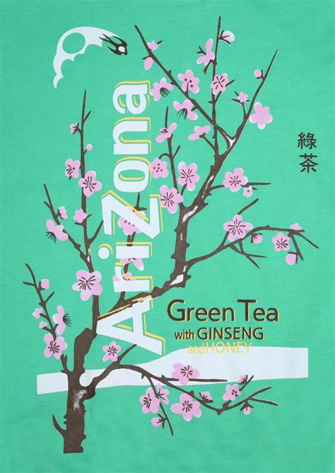 arizona green tea floral  neck sweatshirt fairyseason