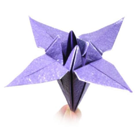 Iris Flower Origami - how to make a classical origami iris flower page 1